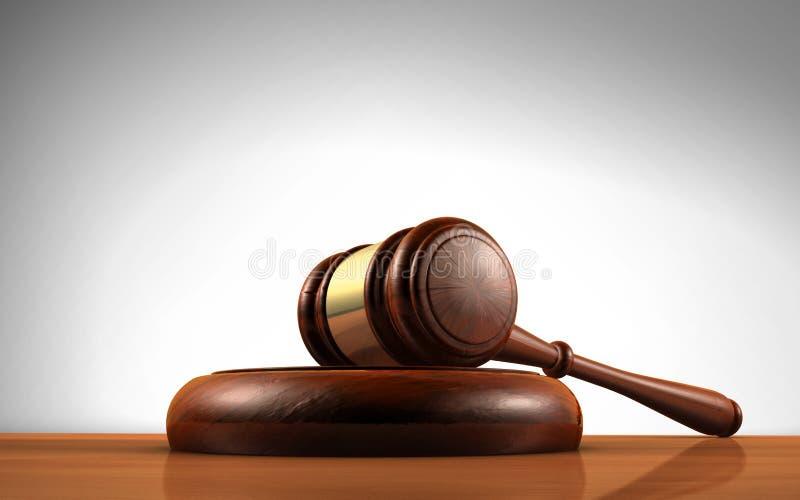 法官惊堂木法律标志 向量例证