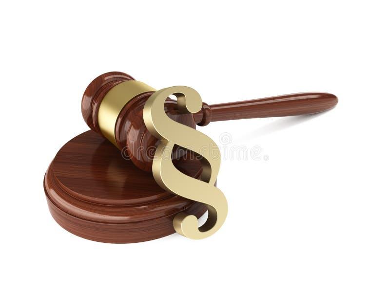 法官惊堂木 向量例证