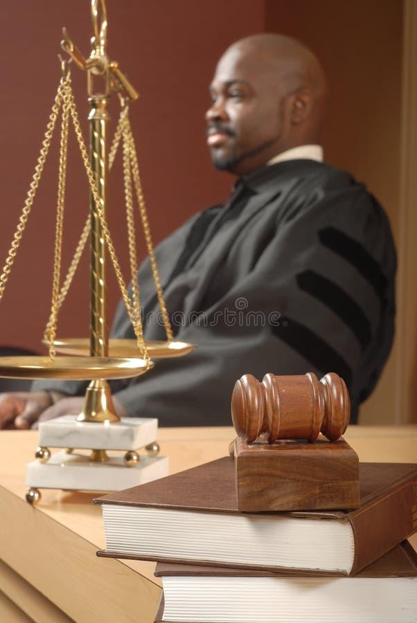 法官想法 库存照片