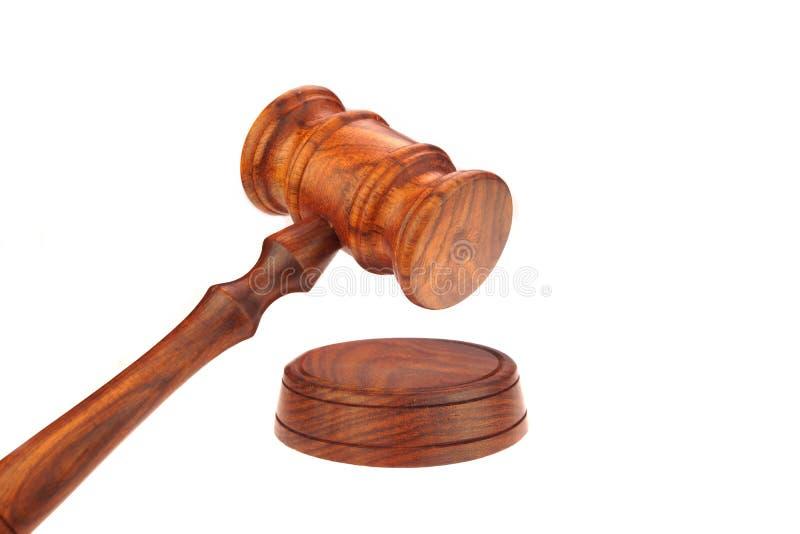 法官或主席或拍卖人硬木惊堂木 库存图片