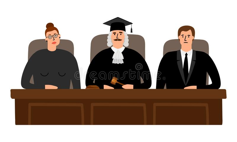 法官法院概念 库存例证