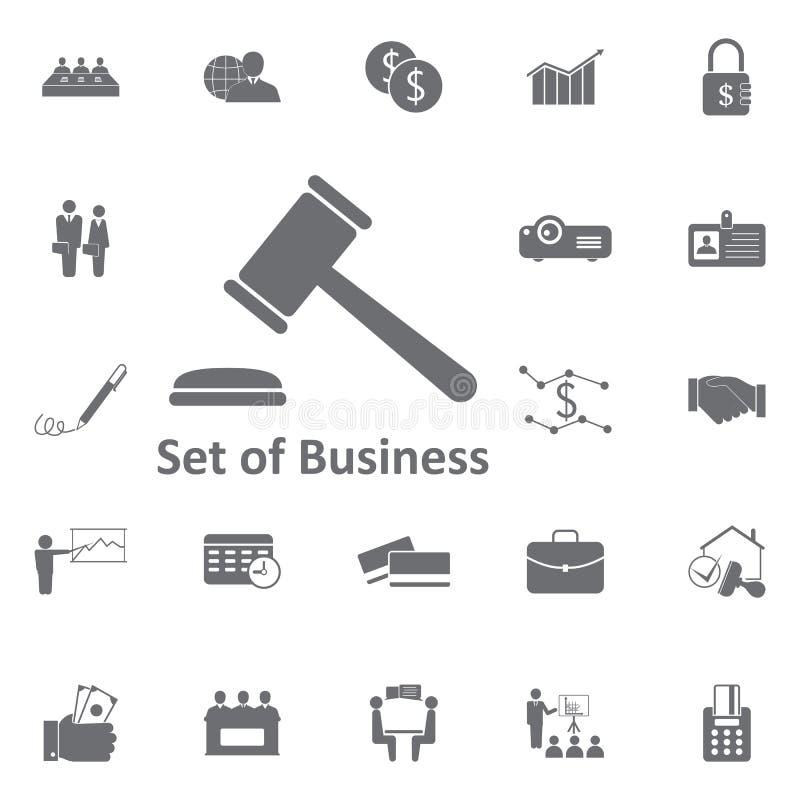 法官象的锤子 简单的元素例证 企业集成电路 皇族释放例证