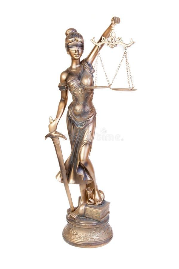 法官, Themis神话希腊女神雕象,被隔绝 库存图片