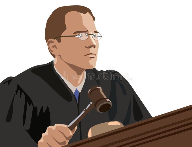 法官 向量例证