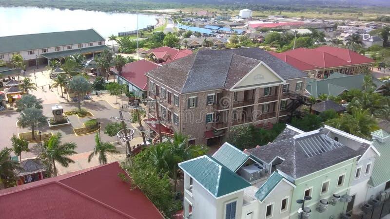 法尔茅斯巡航口岸港口牙买加 免版税库存图片