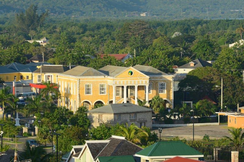 法尔茅斯法院大楼,牙买加 免版税图库摄影
