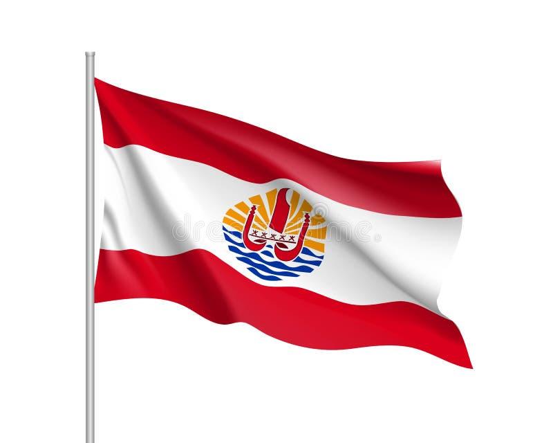 法属波利尼西亚的挥动的旗子 皇族释放例证