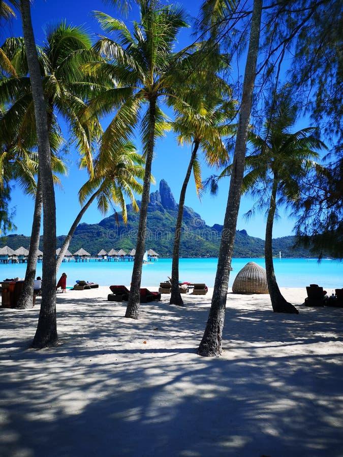 法属玻里尼西亚博拉博拉岛海岛 库存图片