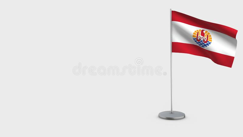 法属玻里尼西亚3D挥动的旗子例证 向量例证