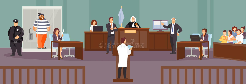 法庭审讯传染媒介 库存例证
