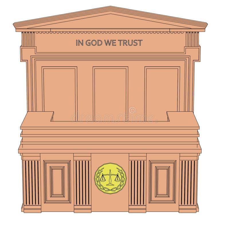 法庭桌 皇族释放例证