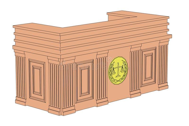 法庭桌 库存例证