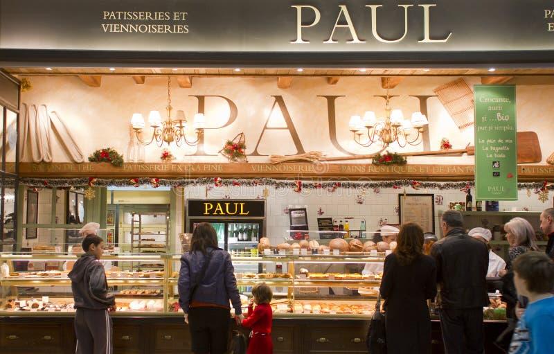 法式蛋糕铺保罗 库存图片