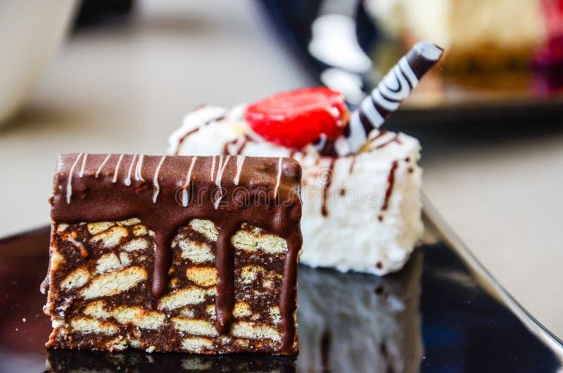 法式蛋糕铺 图库摄影