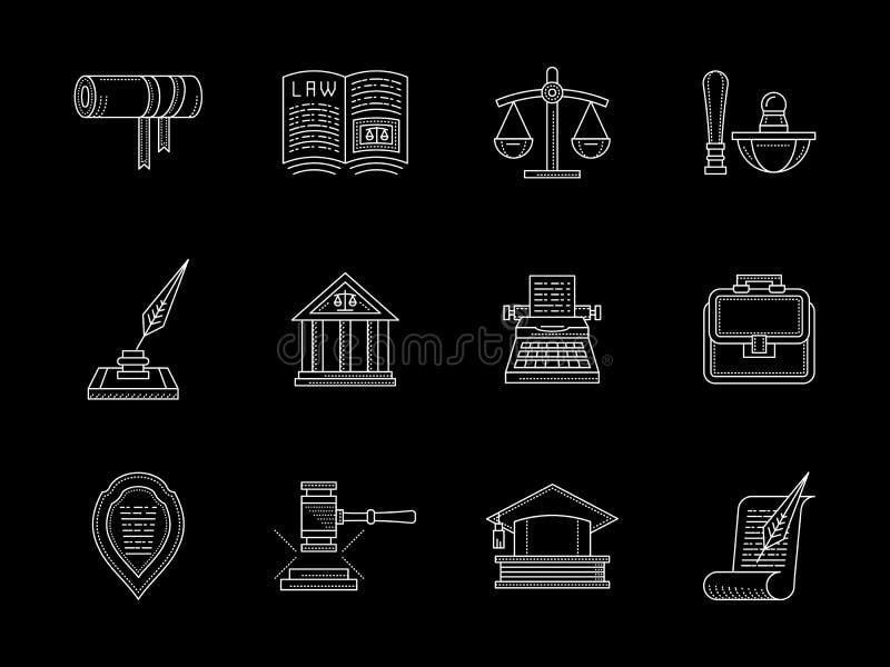 法律上和法律平的线被设置的象 库存例证