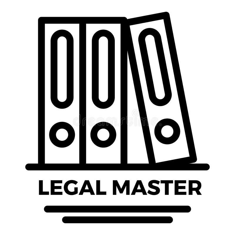 法律主要文件夹象,概述样式 向量例证