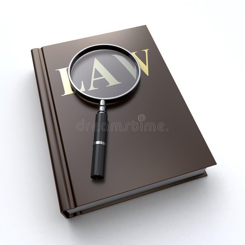法律书籍和放大器 库存例证