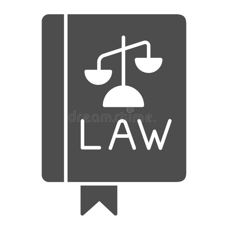 法律书籍坚实象 宪法在白色隔绝的传染媒介例证 评断纵的沟纹样式设计,设计为 库存例证