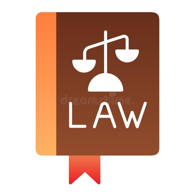 法律书籍平的象 宪法在时髦平的样式的颜色象 评断梯度样式设计,设计为 皇族释放例证