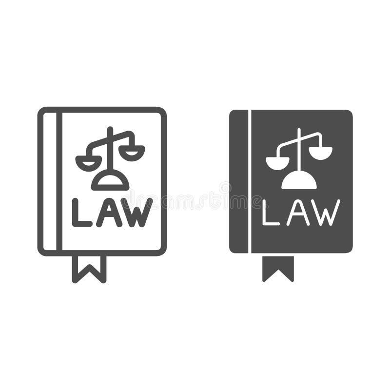 法律书籍线和纵的沟纹象 宪法在白色隔绝的传染媒介例证 评断概述样式设计 皇族释放例证