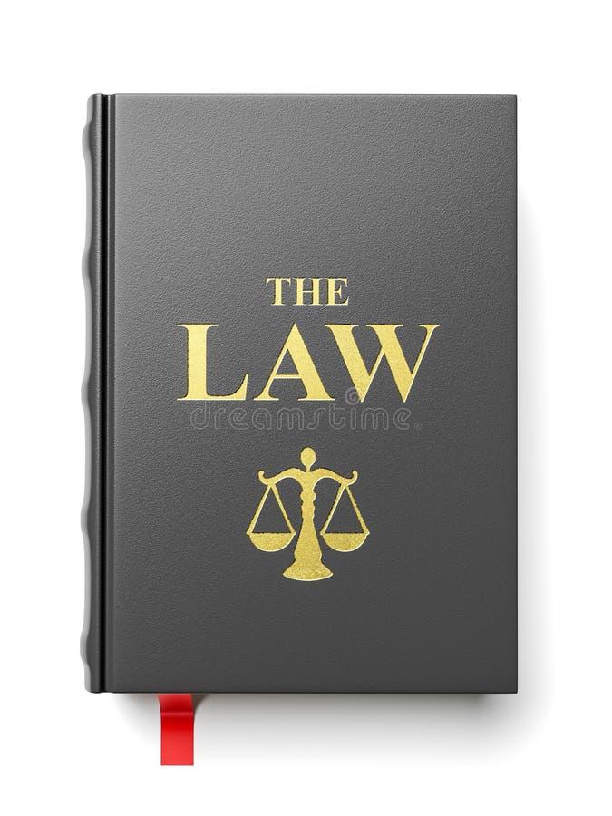 法律书  在白色背景隔绝的宪法 向量例证