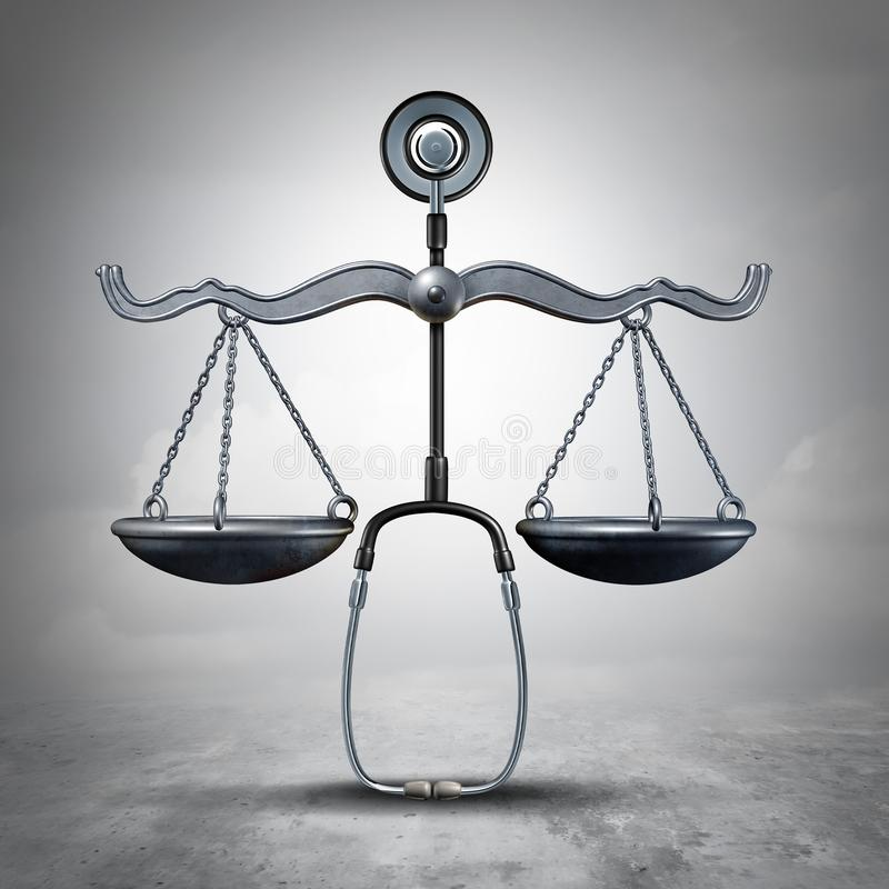 法律医学标志 向量例证