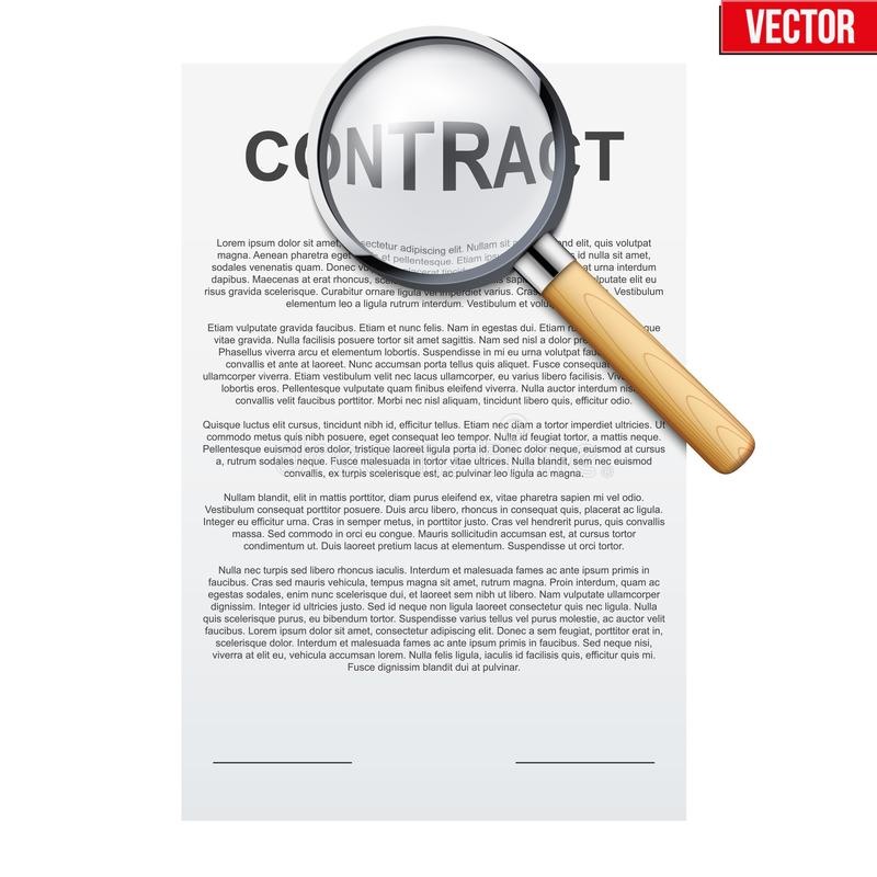法律合同签字 库存例证