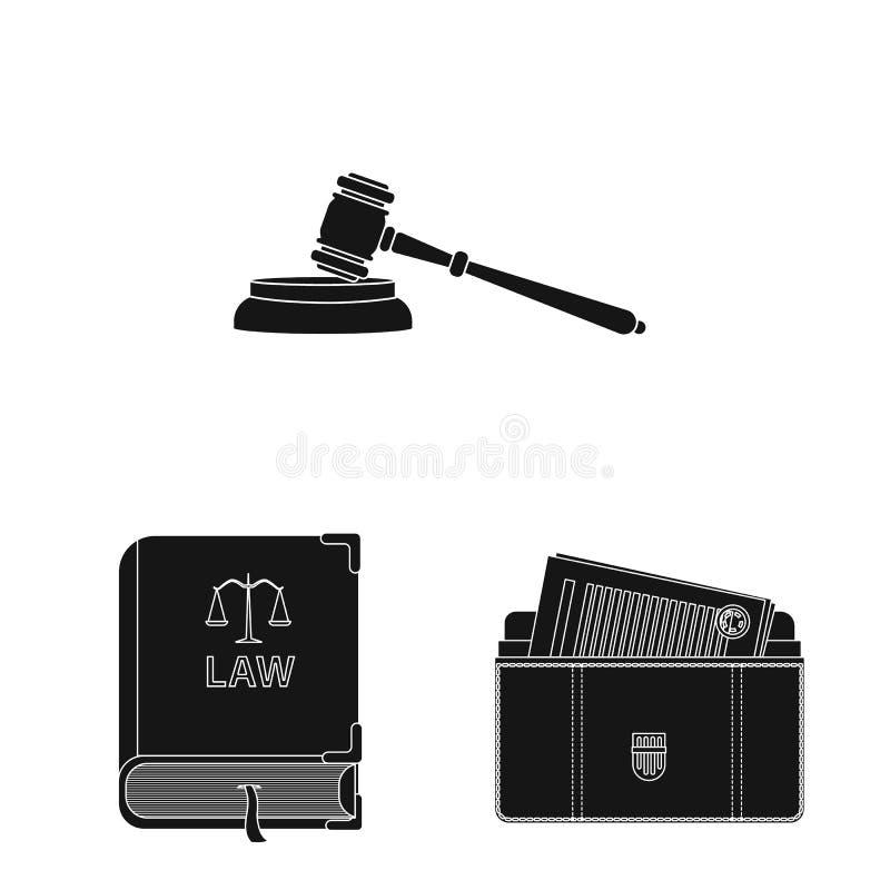 法律和律师商标传染媒介设计  法律和正义股票简名的汇集网的 皇族释放例证