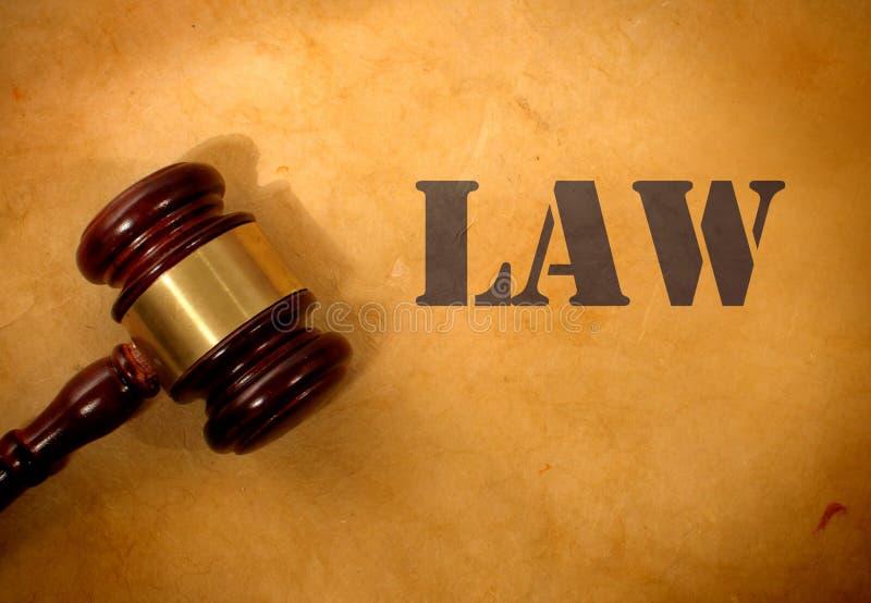 法律和惊堂木 库存照片