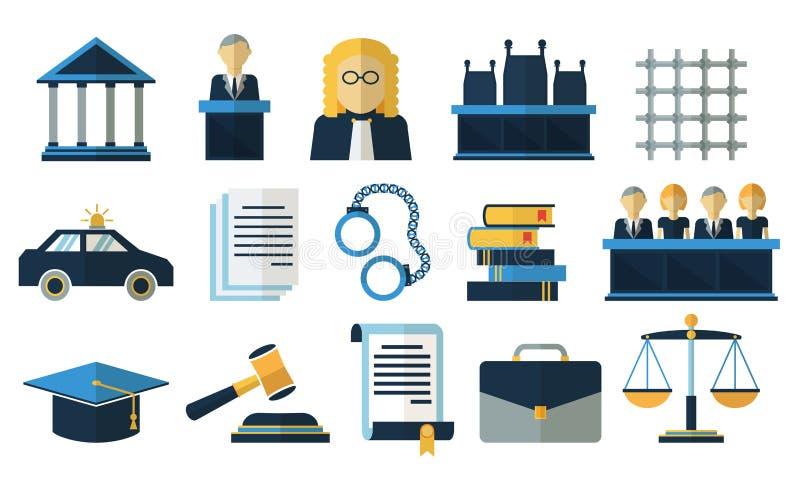 法律和正义平的传染媒介象 向量例证