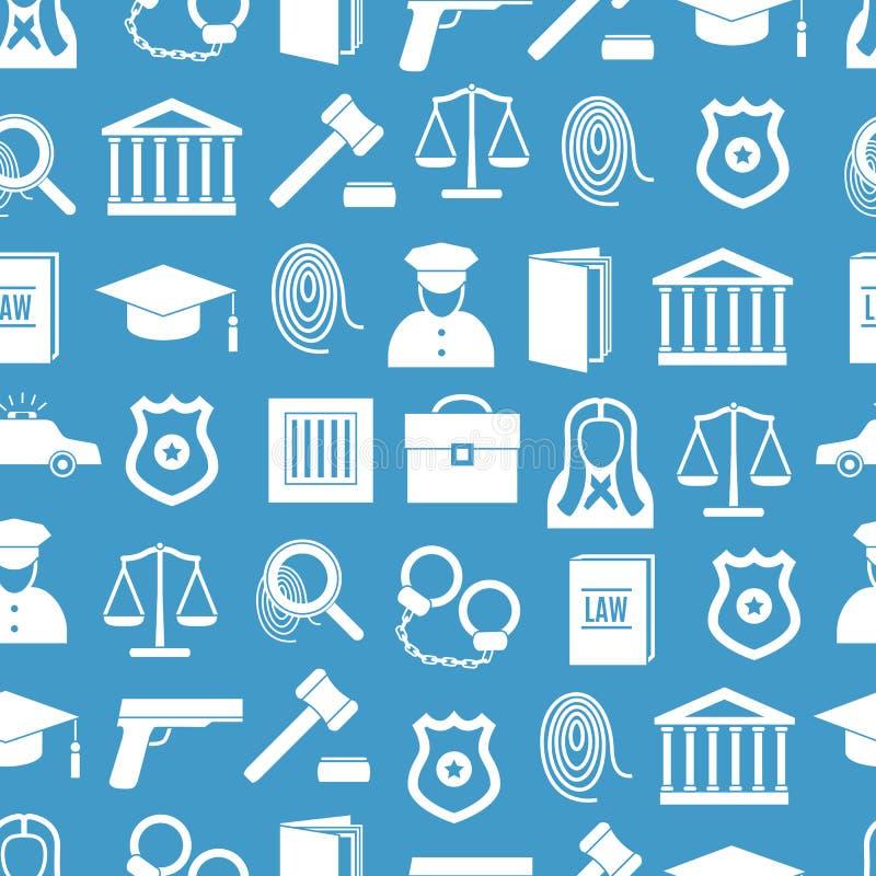 法律和正义无缝的样式背景 向量 皇族释放例证