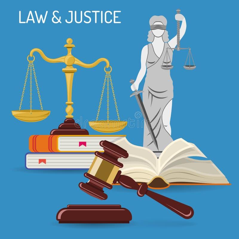 法律和正义概念 皇族释放例证
