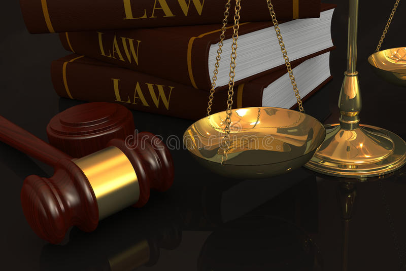 法律和正义的概念 向量例证