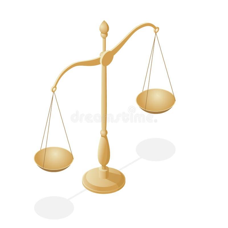 法律和正义的等量标志,法律和正义,法律,法律学 r 碗在平衡的标度, 库存例证