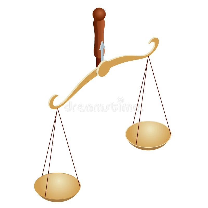 法律和正义的等量标志,法律和正义,法律,法律学 r 碗在平衡的标度, 皇族释放例证