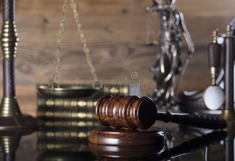 法律和正义题材-法官概念 库存照片