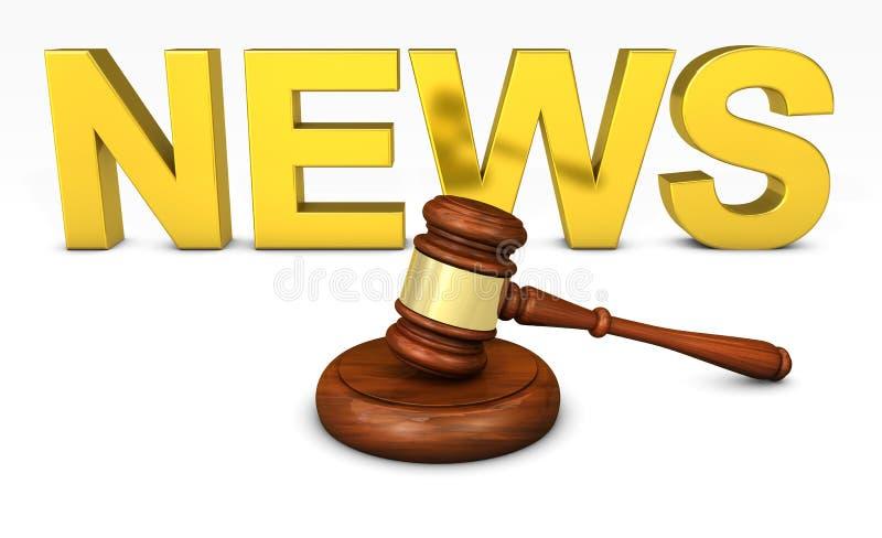 法律和法律新闻概念 免版税库存照片