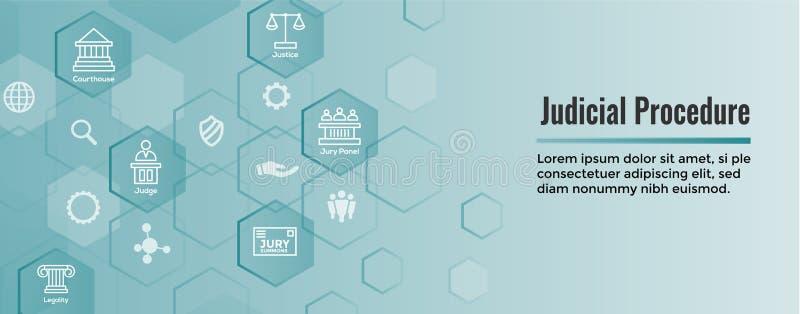 法律和法律象集合与法官、陪审员和司法象 库存例证