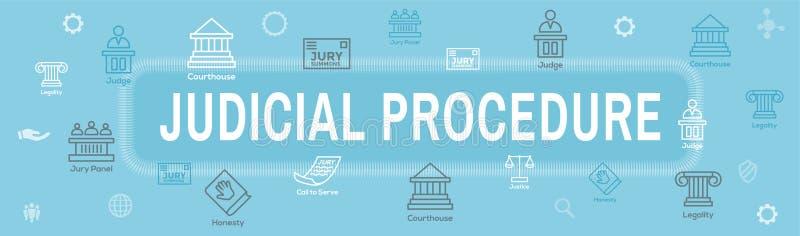 法律和法律象集合与法官、陪审员和司法象 皇族释放例证