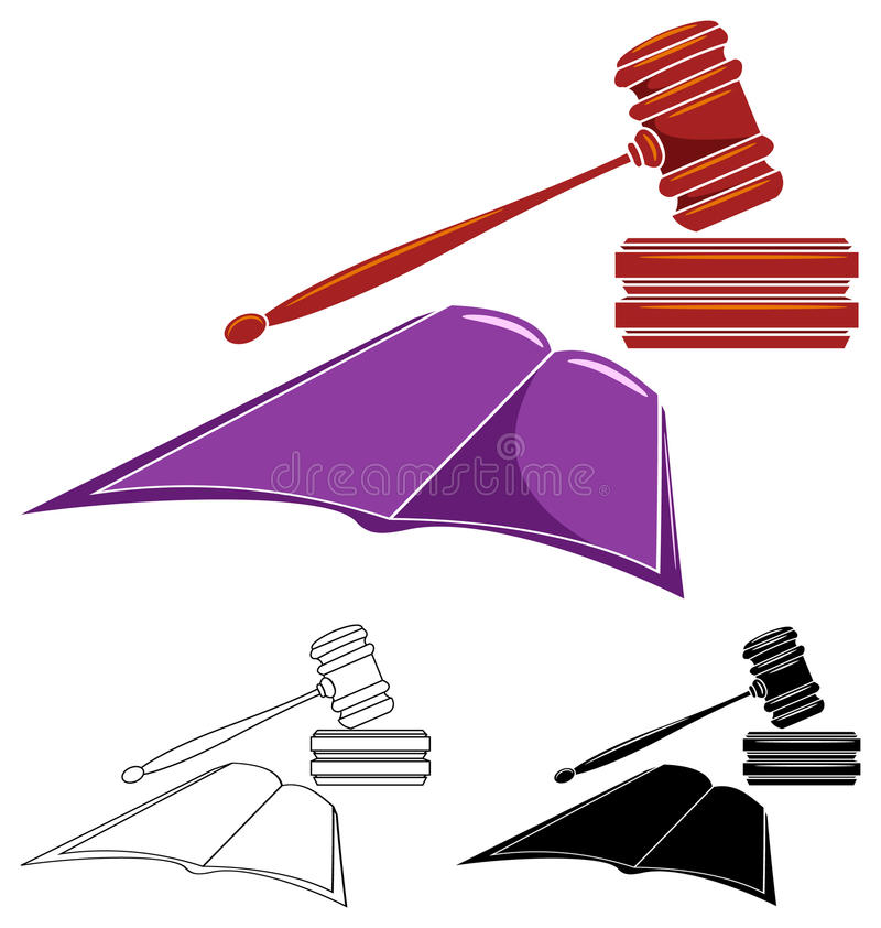 法律图象 向量例证