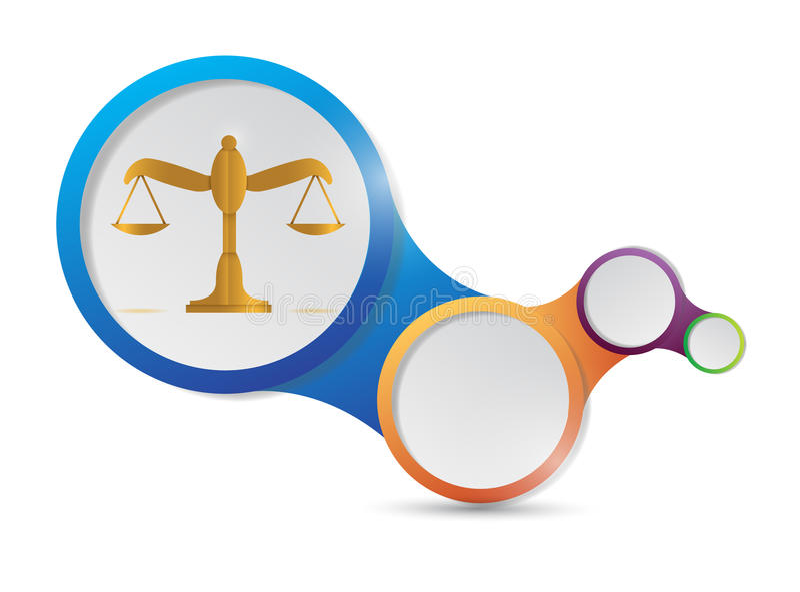 法律平衡链接例证设计 皇族释放例证