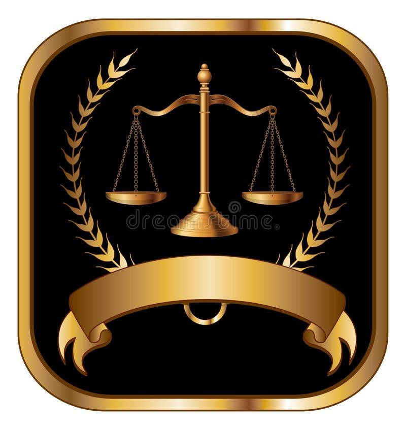 法律或律师封印金子 库存例证