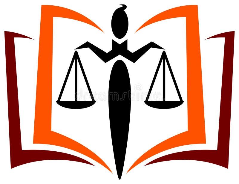 法律教育徽标 库存例证