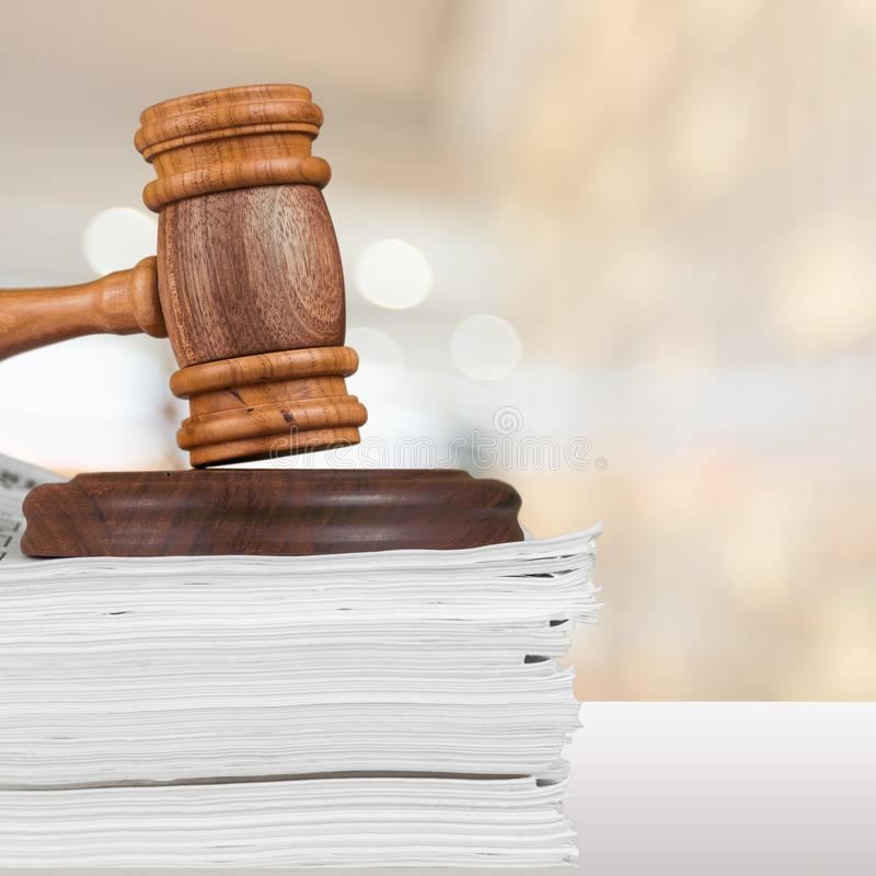 法律文件 免版税图库摄影