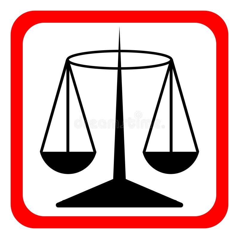 法律标度传染媒介象,正义标志 网站的现代,简单的平的传染媒介例证或流动app 库存例证