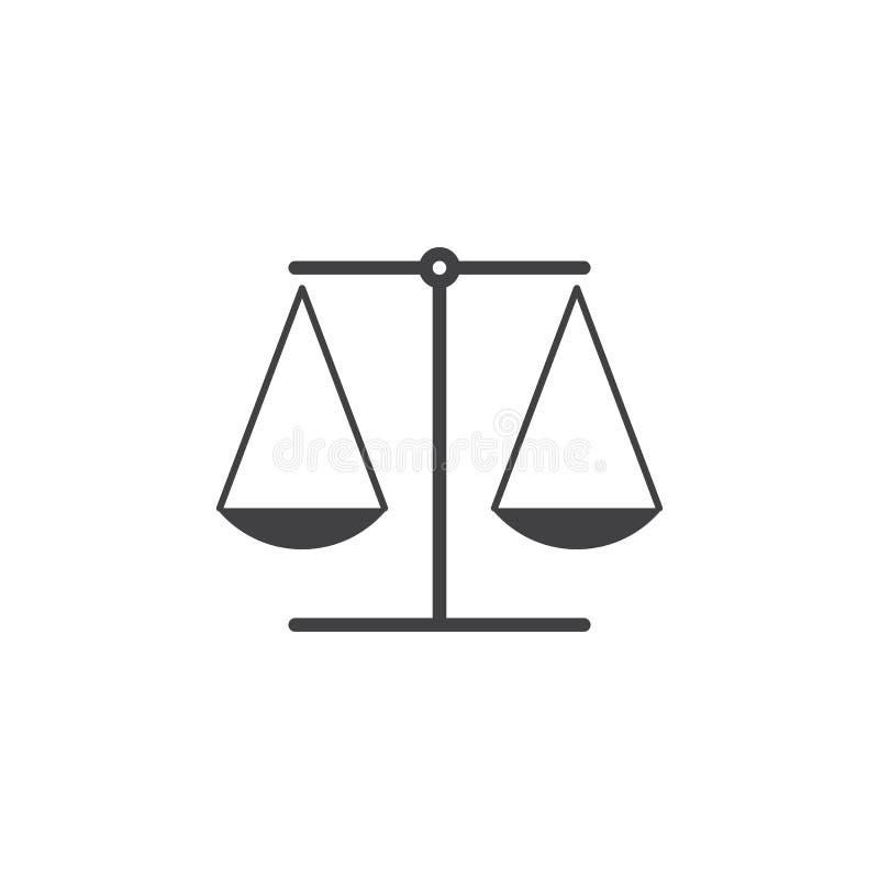 法律标志 称象,天秤座坚实商标例证, p 库存例证
