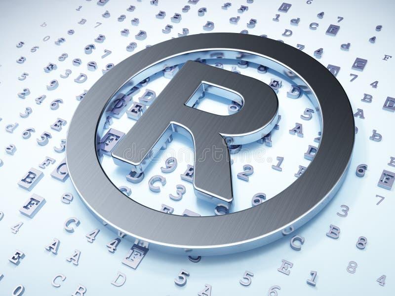 法律概念:在数字式登记的银 库存例证