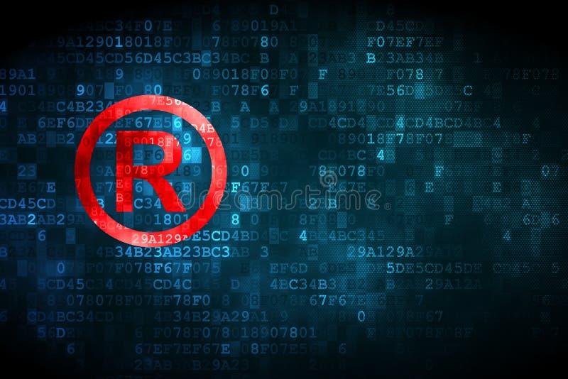 法律概念:登记在数字式背景 皇族释放例证