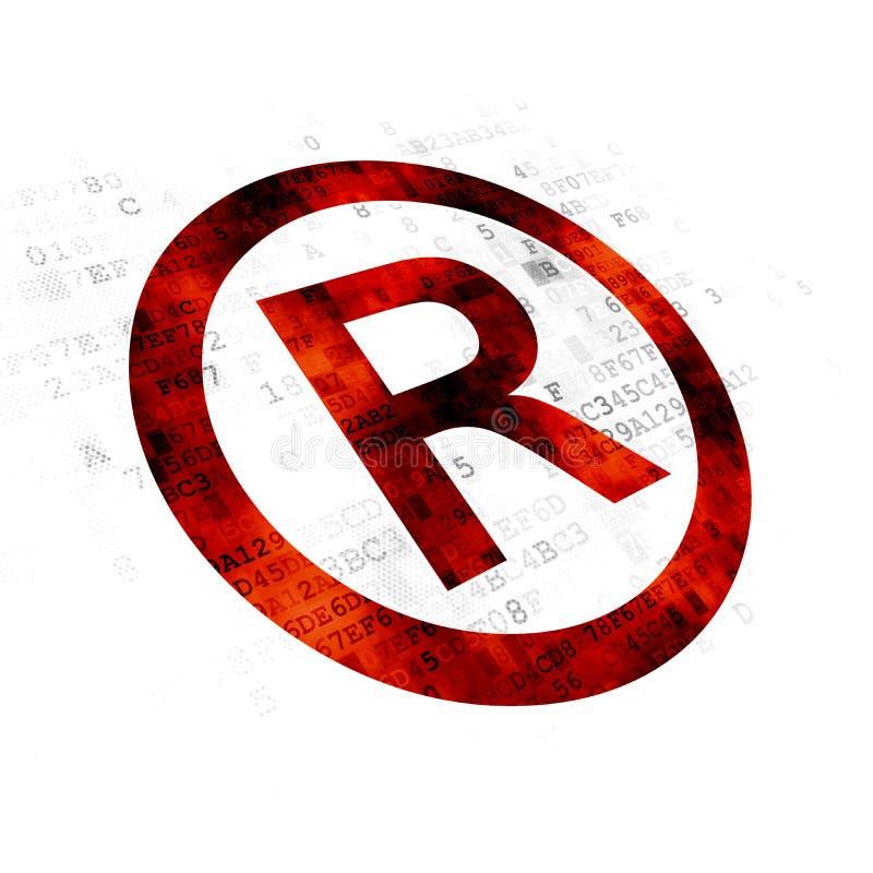 法律概念:登记在数字式背景 库存例证