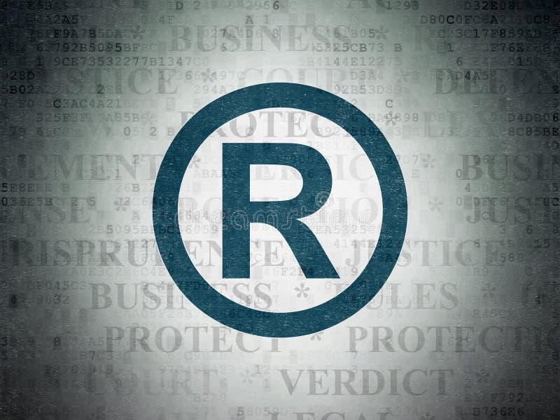 法律概念:登记在数字资料纸背景 皇族释放例证